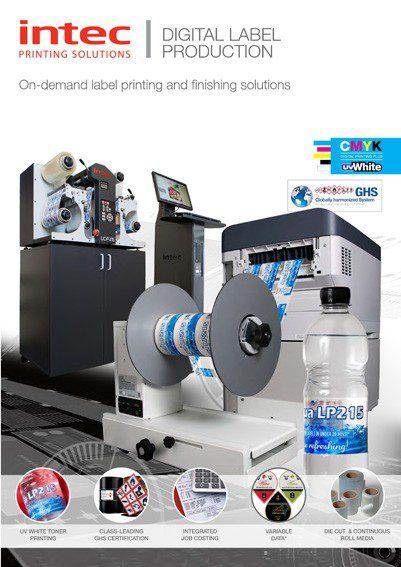 Intec LP215 digital printer brochure icon