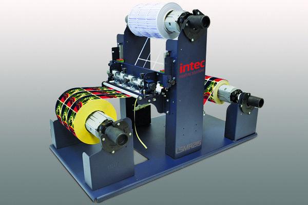 Intec LSMR215 label slitter and matrix remover