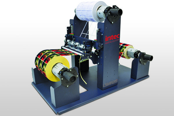 Intec LSMR215 label slitter and matrix remover
