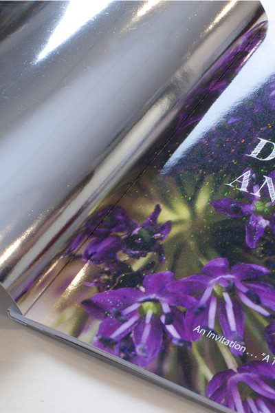 Intec ColorFlare foiled and holographed book