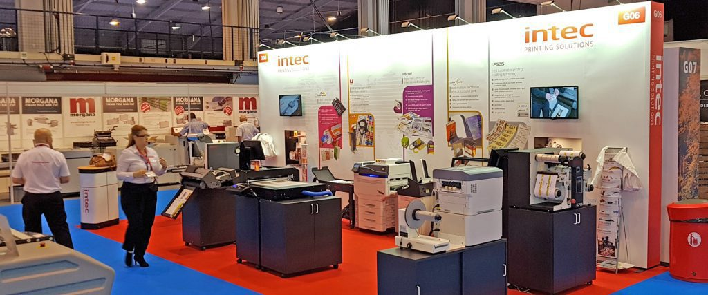 Intec stand at the print show