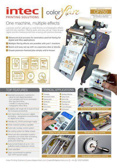 Intec ColorFlare CF750 brochure thumb