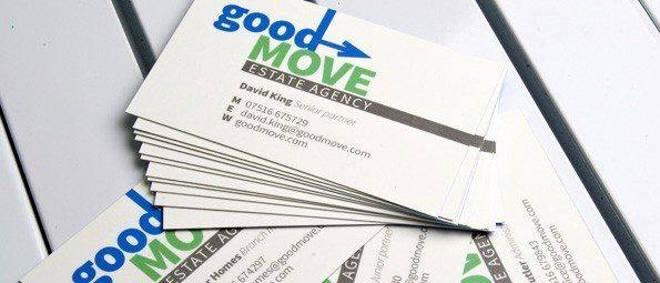 ColorFlare laminated business cards