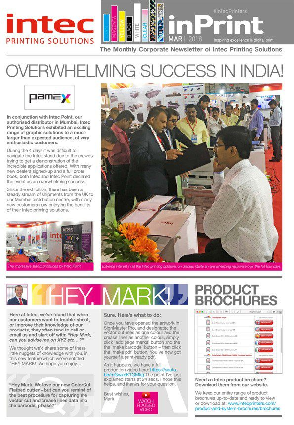 Intec newsletter March 2018 cover