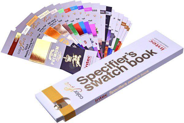 ColorFlare metallic foils swatch book