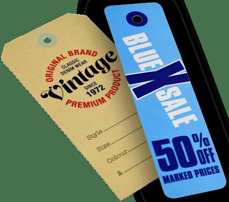Swing tickets cut on ColorCut cutter