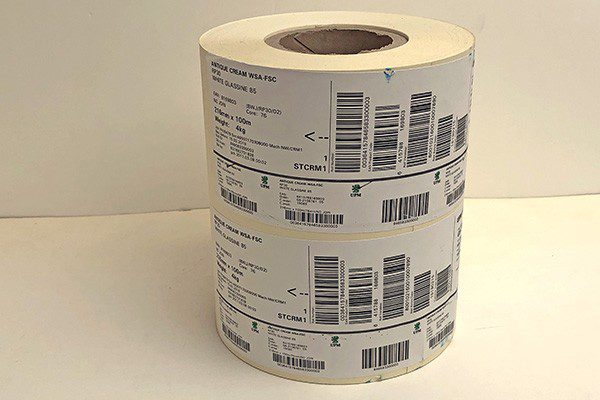 Intec roll to roll label media for clearance